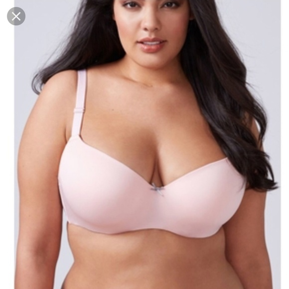 Cacique Other - Pink Balconette Bra with Lace Straps 38F